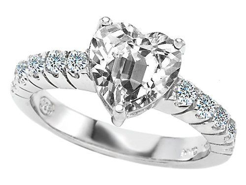 Original Star K(tm) 8mm Heart Shape Genuine White Topaz Engagement Ring Star K. $129.99. Guaranteed Authentic from the Star K designer line. Star K. Designs are exclusive and protected by Copyright Laws
