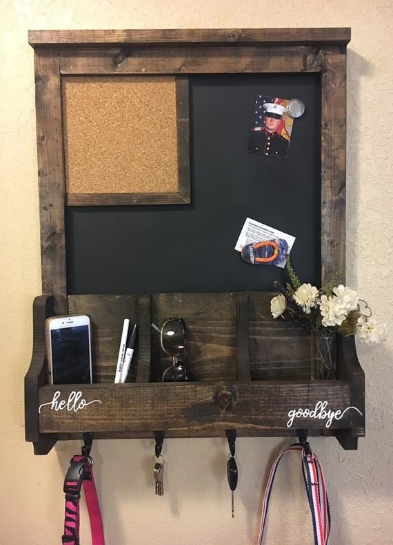 Wall Organizer Wood Wall Organizer Chalkboard Sign Magnetic