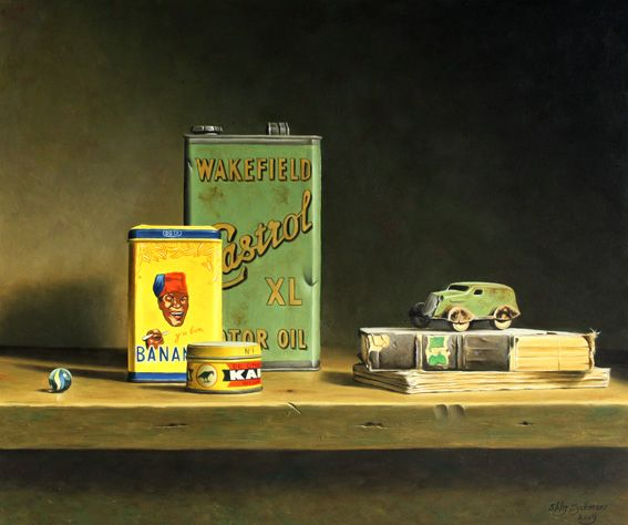 Stefaan Eyckmans | OIL | Banania Tin and Toy Car