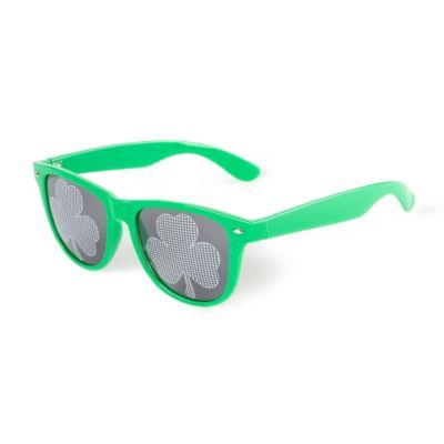 St. Patrick's Day Shamrock Lens Wayfarer Sunglasses