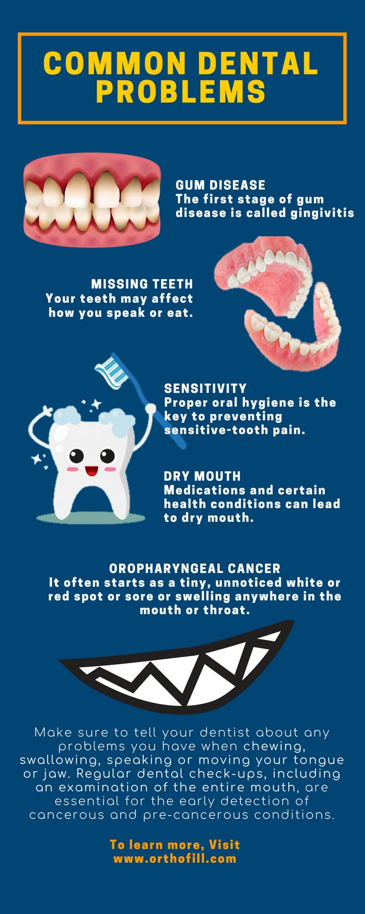 Common Dental Problems. Dental Infographics to make you