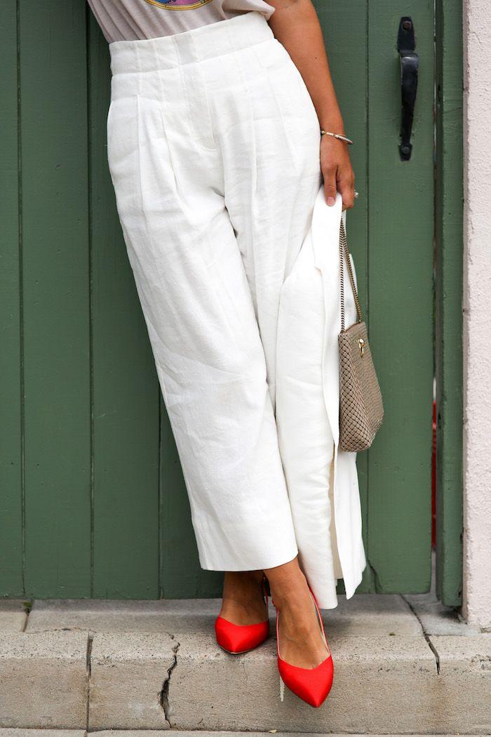 White Summer Pants Suit