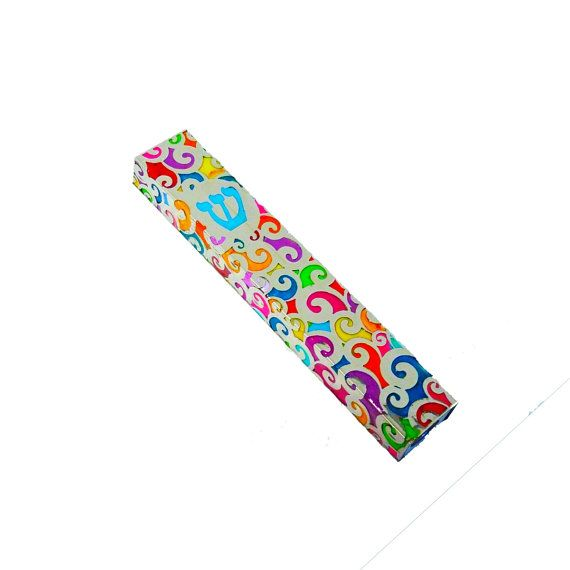 Mezuzah , Mezuzah case, Mezuzah cover, Jewish Wedding gift, Mezuza, Judaica, Bat Mitzvah Gift, Jewish Gift, Judaica art , Judaica gifts  This Mezuzah is made with polymer clay all the flower is made by hand, one-of-a-kind colorful design *** Scroll is not included in this listing ***  This Mezuzah is app 14.5 cm 6 long Takes a 12 cm 5scroll   What is a Mezuzah? A Mezuzah is a parchment which we affix to our doorposts, in which a scroll has hand-written two paragraphs from the Torah.  I…