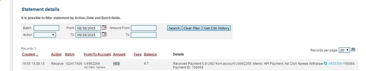 1 st Payment from AdClickXpress. I get paid daily and I can withdraw daily. Online income is possible with ACX, who is definitely paying - no scam here. I WORK FROM HOME less than 10 minutes and I manage to cover my LOW SALARY INCOME. If you are a PASSIVE INCOME SEEKER, then AdClickXpress (Ad Click Xpress) is the best ONLINE OPPORTUNITY for you!! www.adclickxpress...
