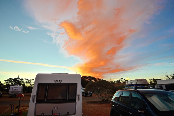 Peterborough Sunset #peterborough #sunset #elddis #caravan #australia #livingthedreamaustralia