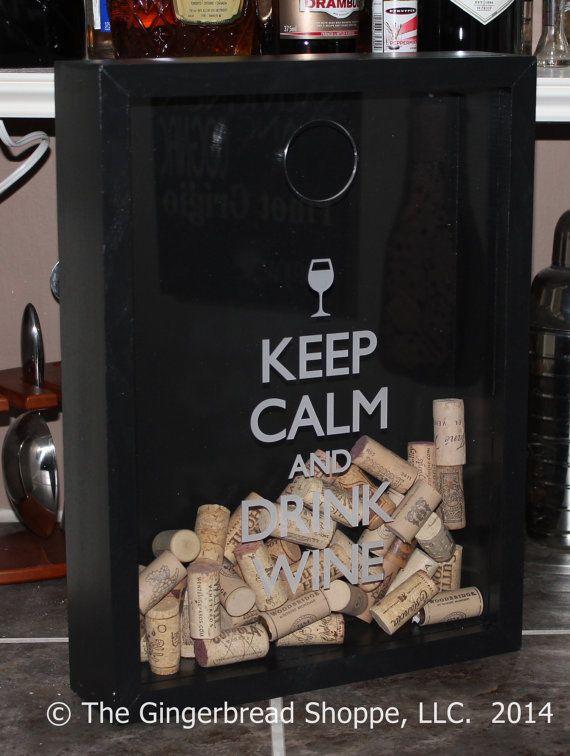 Fête des pères cadeaux/garder calme et boire vin/Cork titulaire/Decor/Bar fête des mères/Decor/Man/gravée/mariage cadeau/cadeau