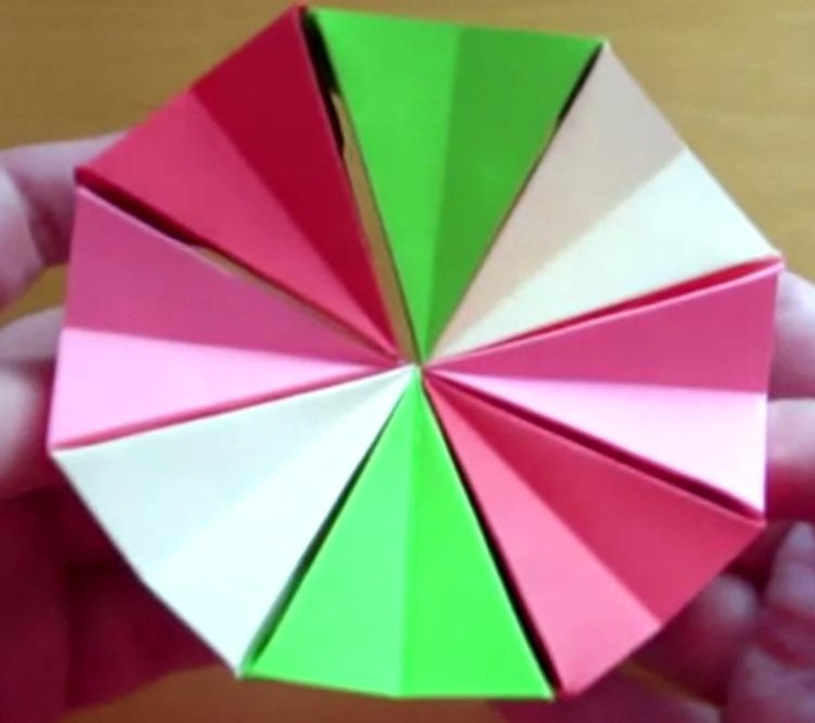Circle Origami Choice Image Instructions Easy For Kids