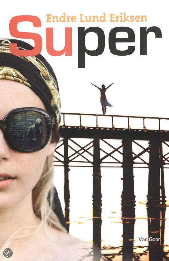 Endre Lund Eriksen - Super || Van Goor, 2011, 165 pagina's || Een blind meisje is haar saaie leventje zat. Ze gooit het roer om. Dan ontmoet ze een mysterieuze jongen, op wie ze verliefd wordt. || Op tiplijst Jonge Jury 2013 || www.bol.com/nl/p/super/1001004010938575/