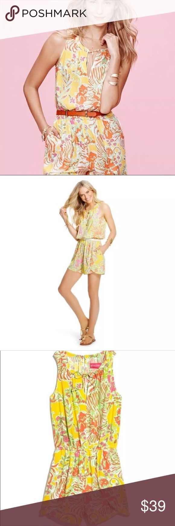 Lilly Pulitzer for Target Romper In excellent used condition, only worn twice. Size large Lilly Pulitzer for Target Romper. I bought this online, but sadly it isn't the correct size for me, so I'm hoping to find it a new home. Lilly Pulitzer for Target Dresses