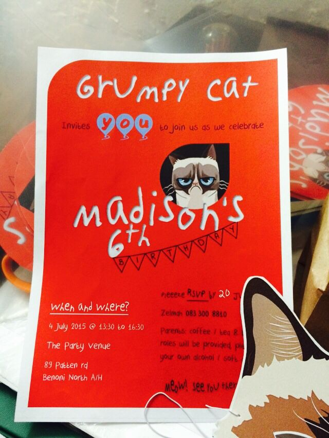 A certain little girl is obsessed with Grumpy Cat - so I designed her entire theme (again)
