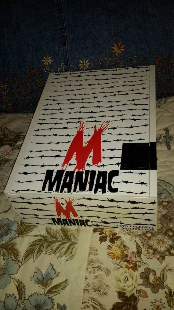 Cigar Box Maniac Oversized Chest Barbed Wire by IndustrialPlanet
