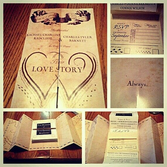 harry potter wedding invitations im kind of sad that i am already - Harry Potter Wedding Invitations