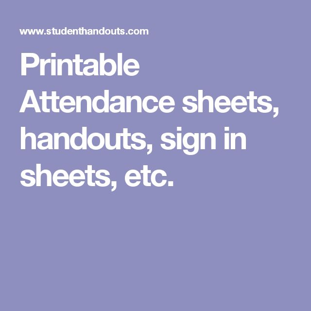 Best 25+ Attendance sheets ideas on Pinterest Teacher lesson - printable attendance sheet for teachers