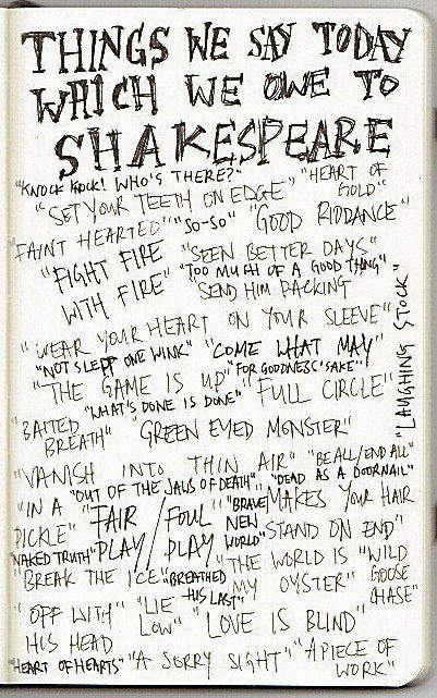 Thepreppyyogini What We Owe To Shakespeare And These Are Just A Minimum Words Pinterest Shakespeare