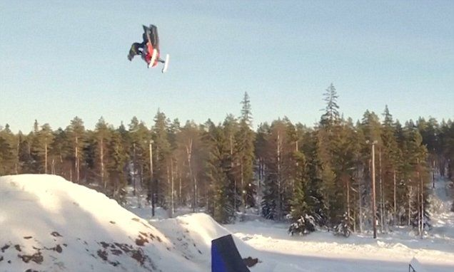 Swedish man is first ever person to land double backflip on snowmobile #DailyMail | These are some of the stories. See the rest @ http://www.twodaysnewstand.com/mail-onlinecom.html or Video's @ http://www.dailymail.co.uk/video/index.html And @ https://plus.google.com/collection/wz4UXB