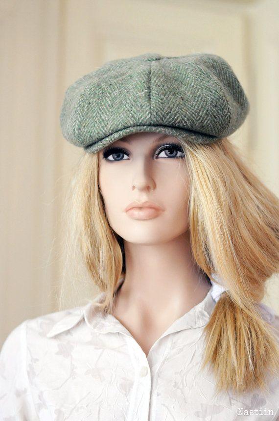 eb71c53770bdd ... womens newsboy hat mens newsboy cap unisex green hat wool hat peaky  blinders hat pageboy hat ...