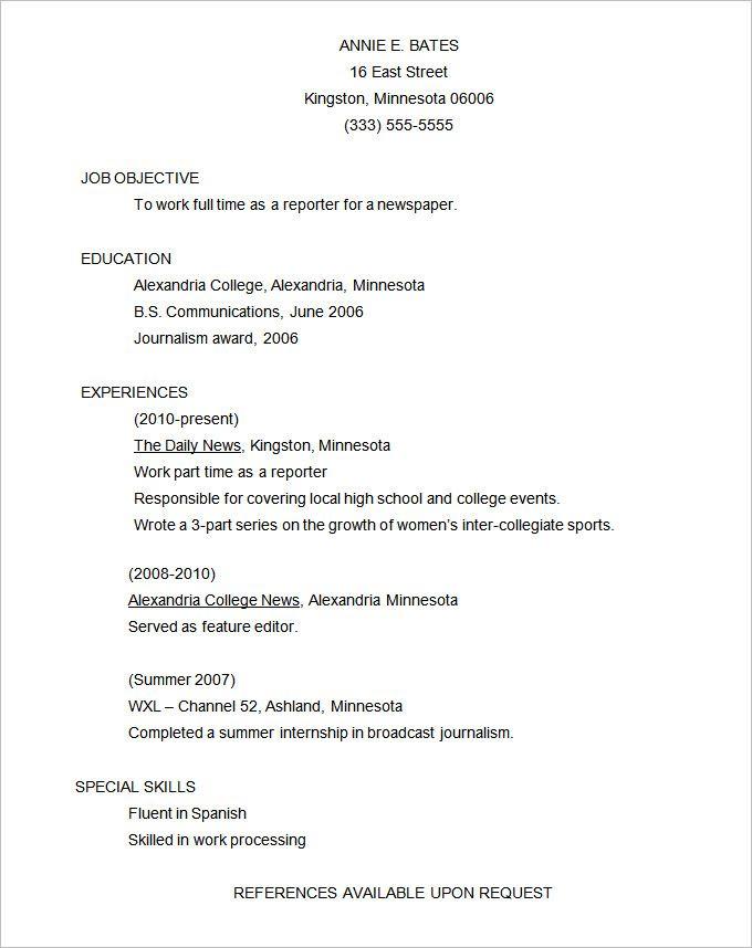 10 Functional Resume Template Functional Resume Template