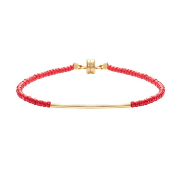 MINNIE GRACE Red beaded friednship bracelet | La Luce