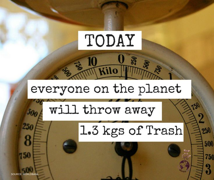 Every single day. Every person in the world. On average, throws away 1.3 kg of waste. There are 7.5 billion people in the world now. This is unsustainable and cannot go on. Check out One Brown Planet toolkit for ideas on how to reduce your waste - TODAY http://www.onebrownplanet.com/sustainable-living-toolkit/zero-waste/