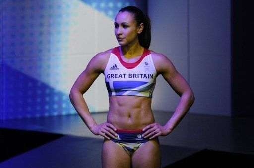 Jessica Ennis models the British Olympic Team GB kit for 2012-this is the woman that senior UK Olympic Officials have described as 'overweight'? Holy Cheesesteak...I must be morbidly obese in their eyes!