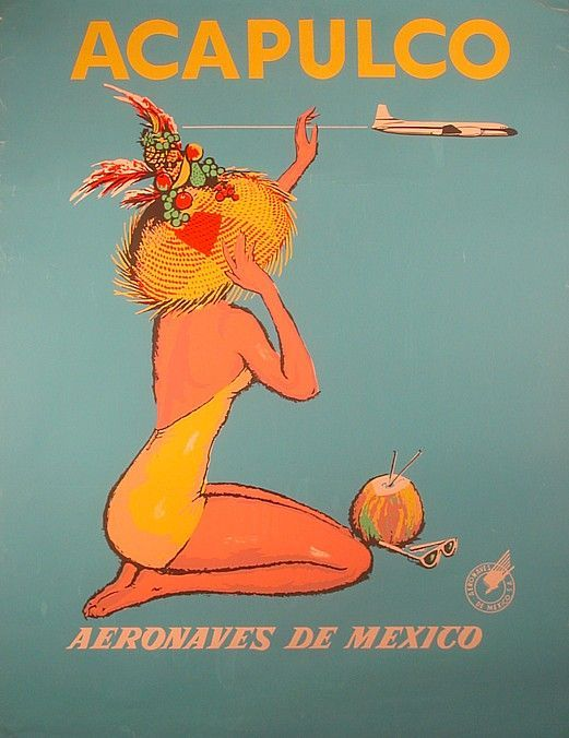 Google Image Result for http://airlineposterart.com/cart/images/AM%2520MEX%252050%2520Acapulco%2520Woman.jpg