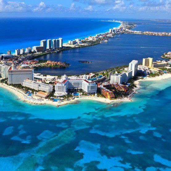 Cancun City In Mexico Cancun Is A City In South-eastern