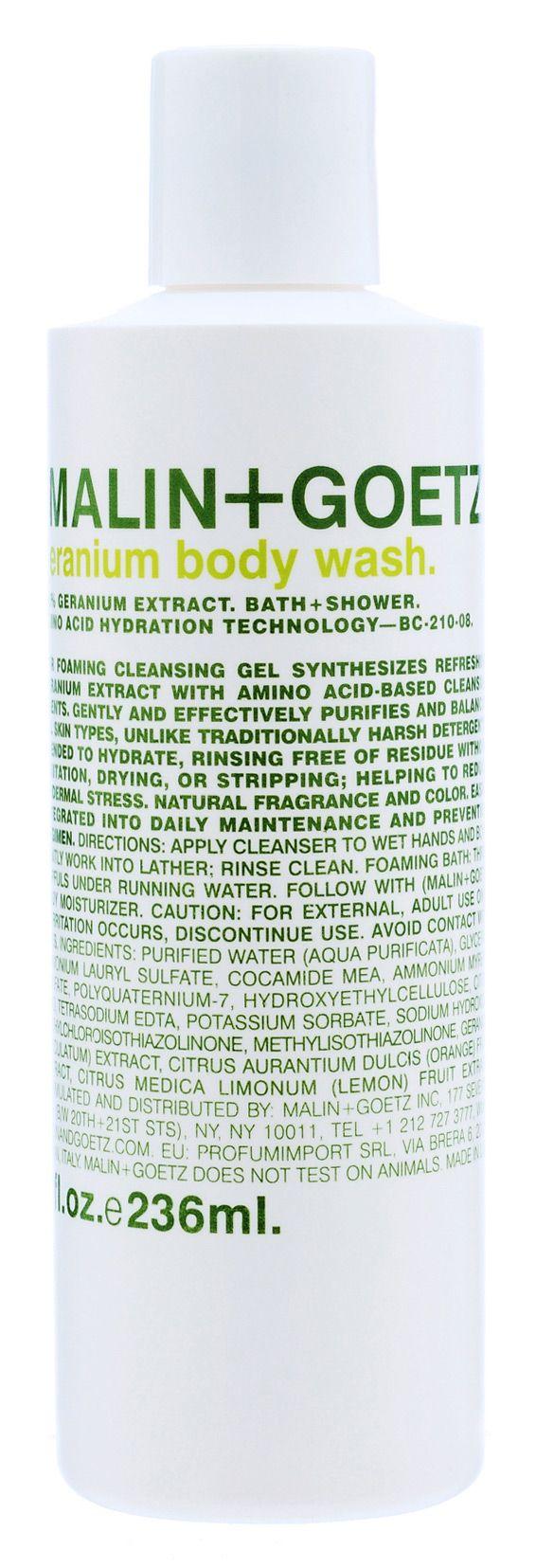 geranium body wash.: Seasons Geraniums Body, Malin Goetz, Seasongeranium Body, Goetz Geraniums, Body Wash, Sensitive Skin, Skin Technology