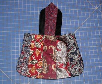 Purse made from Men's Ties