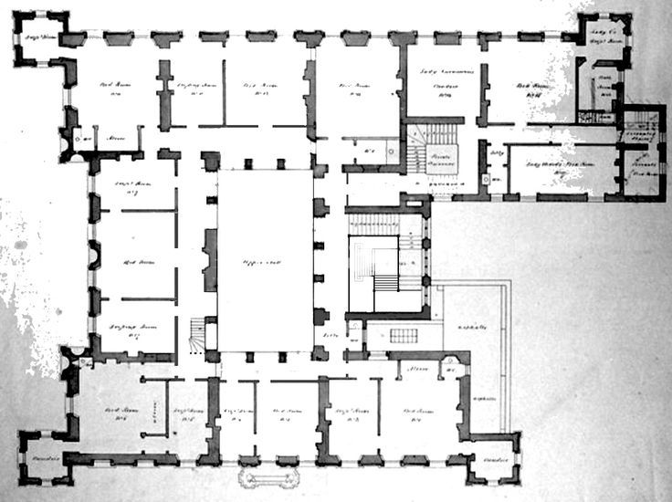 Floor Plan Of Highclere Castle Google Search Floor