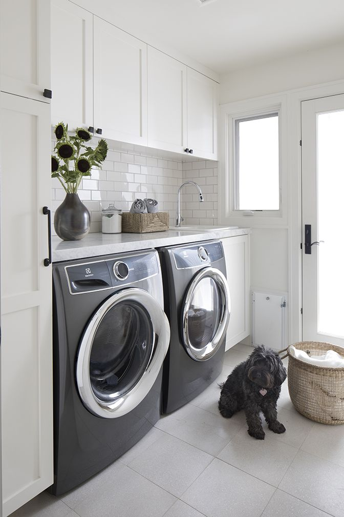 A Quintessential California Ranch Home Rue White Laundry Rooms