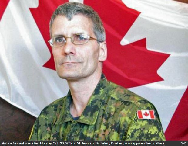 Canadian soldier Warrant Officer Patrice Vincent, hero.