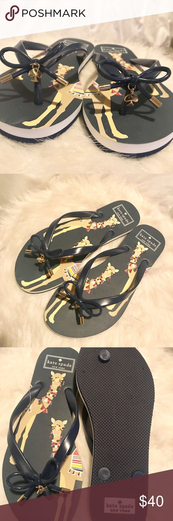 Kate Spade Camel Flip Flops How cute are these Camel flip flops?!?? Brand new/never worn kate spade Shoes Sandals