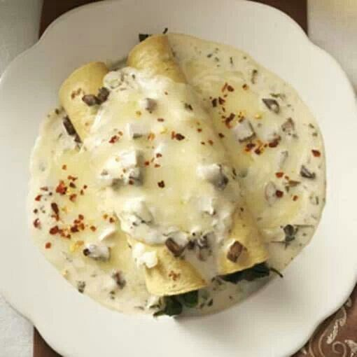 Spinach And Mushroom Enchiladas Recipe — Dishmaps