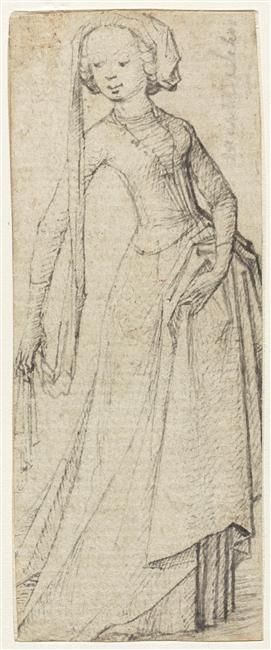 Martin Schongauer (c. 1430/1450-1491) painter, engraver Photo credit: (C) RMN / Hervé Lewandowski Period: 15th century, when the Late Middle Ages (Western Europe) Technique / Material: pen (drawing) Height: 0.122 m. Length: 0055 m. Location: Lille, Palais des Beaux-Arts