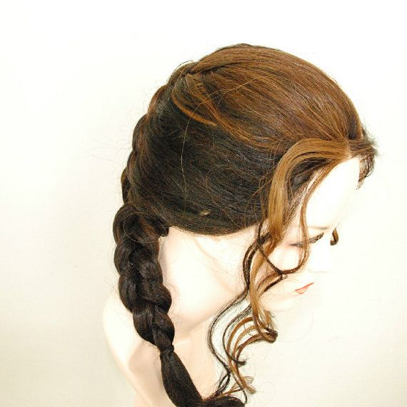 Ombre mix lace front wig /auburn /honey blonde/ light brown braided wig that can undo for long wavy curls