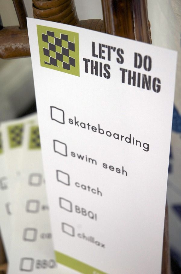 Old School Skateboard inspired Father's Day activity checklist //  www.cupcakesandcutlery.com