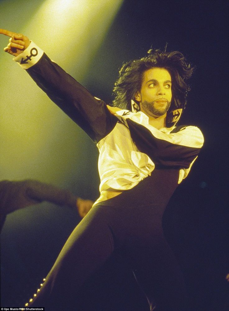 1986: By now known for his crazy costumes, a major part of going to a Prince concert was to see what creation he would come out on the stage in, and this show at Wembley Arena in London was no different - a body suit was a strategic cut-out on the hip