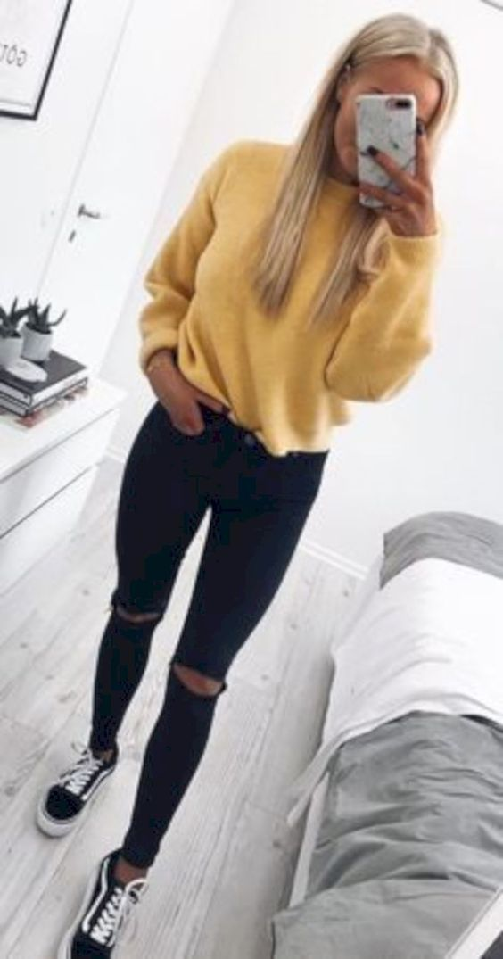 51 Cute And Casual Winter Outfit For Teenage Girl ...