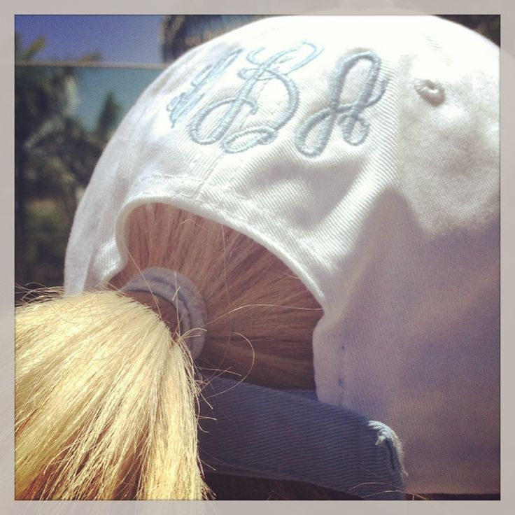 ⚓Perfect Monogrammed Cap for South Florida top down days  #blissdesigns blissmonogramming.com
