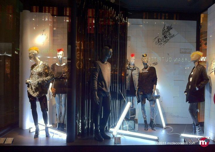 Creación del escaparate de la tienda Bershka para Barcelona y Londres.