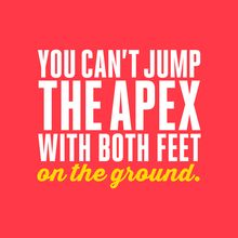 Women's Baby Rib Tank: You can't jump the apex with both feet on the ground by Asskicker Ink. #rollerderby
