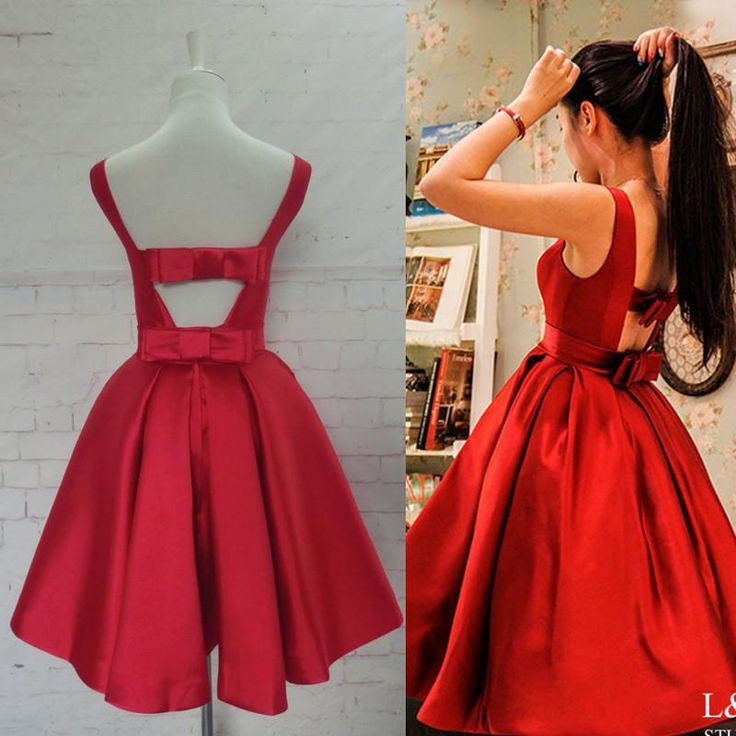 Red Homecoming Dress,Red Homecoming Dresses,Satin Homecoming Dress,Party Dress,Prom Gown, Sweet 16 Dress,Cocktail Gowns,Short Evening Gowns PD20184273