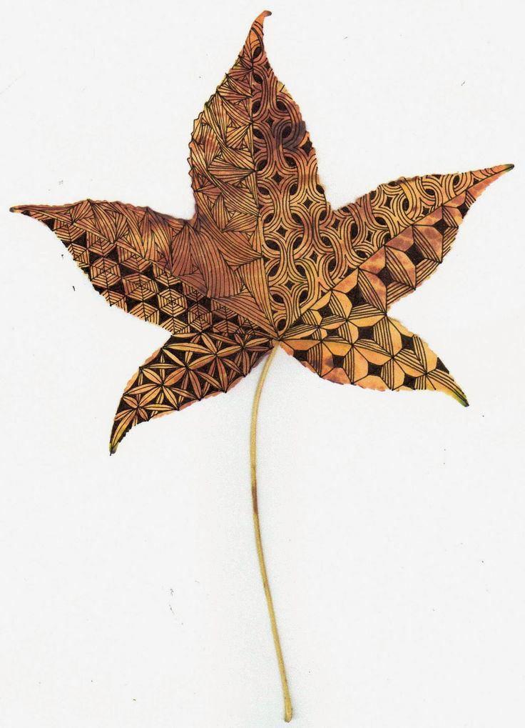Banar Designs: Diva's Zentangle Challenge #186 - Fall leaves