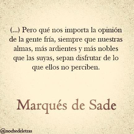 palabra de el Marqués de Sade