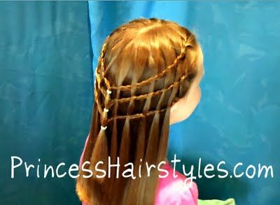 The Story of a Princess and Her Hair- Lots of hairstyles for girls.Waterfal Braids, French Braids Hairstyles, Prom Hairstyles, Hair Style, French Braided Hairstyles, Waterfall Braids, Flower Girls, Princesses Hairstyles, Girls Hair