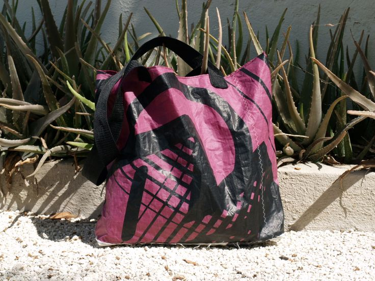 Beachbag, handmade of kitematerial