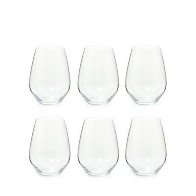 Maxwell & Williams Set of six stemless red wine glasses- at Debenhams.com