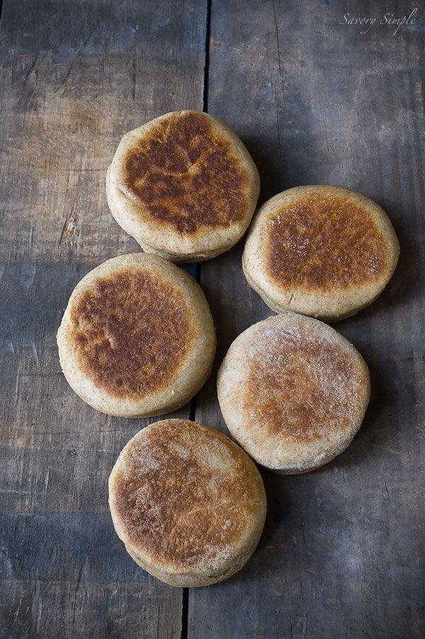 Homemade Whole Wheat English Muffins Recipe ~ Savory Simple