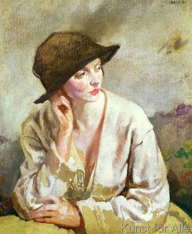Sir William Orpen - Portrait of Miss Sinclair