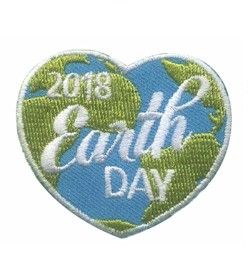 Earth Day 2018 Fun Patch. Celebrate 2018 World Thinking Day with your Girl Scout troop. Your girls will love this this eye-catching earth patch. Available at MakingFriends®.com